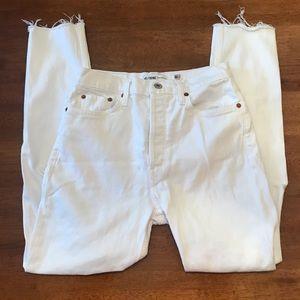 RE/DONE Originals White Jeans